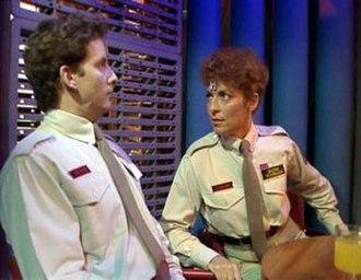 """Arnold Rimmer - Rimmer encounters his """"female opposite"""" Arlene."""