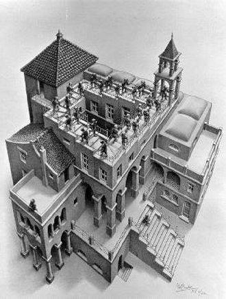 Penrose stairs - Ascending and Descending by M. C. Escher