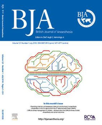 British Journal of Anaesthesia - Image: BJA July 2018 issue cover image