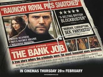 The Bank Job - Promotional film poster