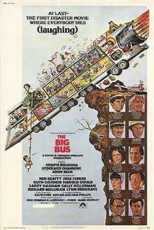 The Big Bus - film poster by Jack Davis