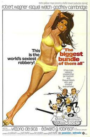 The Biggest Bundle of Them All - Promotional film poster by Robert McGinnis