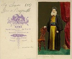 Tobia Aoun - Tobia Aoun photographed in Rome, 1869