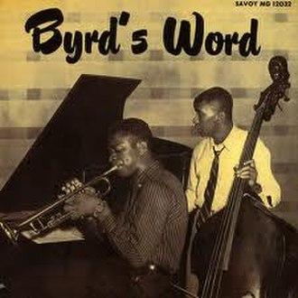Byrd's Word - Image: Byrd's Word