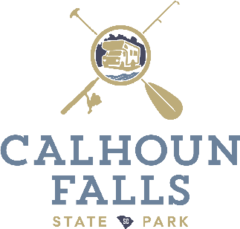 Logo image showing an RV camper, a paddle, and a fishing pole with the name Calhoun Falls below