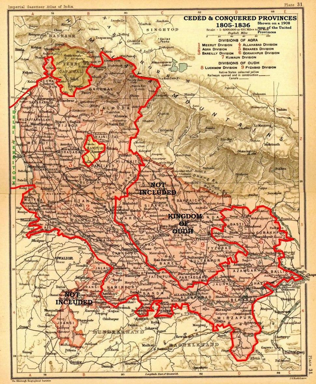 Ceded Conquered Provinces details