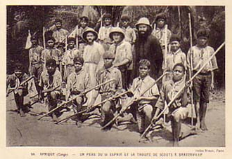 Scouting and Guiding in the Republic of the Congo - Congolese Scout troop, prior to 1960
