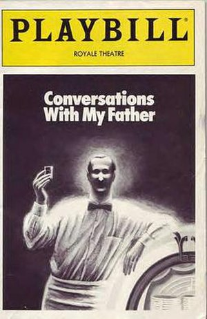 Conversations with My Father - Broadway Playbill