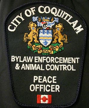 Bylaw enforcement officer - Bylaw Enforcement Officer patch from City of Coquitlam, BC, Canada