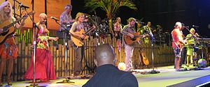 Coral Reefer Band - Jimmy Buffett and the Coral Reefer Band perform during their Summerzcool Tour in June 2009.