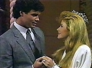 Cord Roberts - Cord and Tina (Andrea Evans) marry, 1986