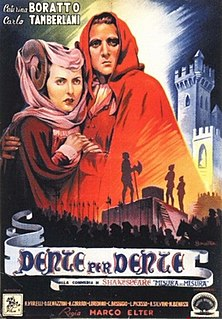 <i>Measure for Measure</i> (film) 1943 Italian film by Marco Elter