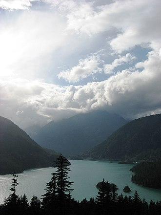 Ross Lake National Recreation Area - Diablo Lake from Hwy 20
