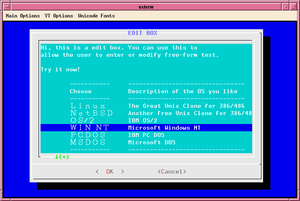 Screenshot showing dialog's editbox widget