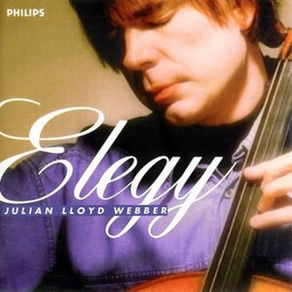 Elegy (Julian Lloyd Webber album) - Image: Elegy cover