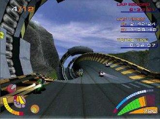 Extreme-G 3 - Screenshot of gameplay.
