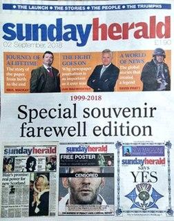 <i>Sunday Herald</i> Scottish Sunday newspaper based in Glasgow