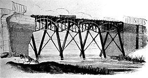 Stockton and Darlington Railway - Stephenson's iron bridge across the Gaunless