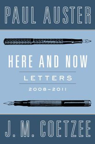 Here and Now: Letters, 2008–2011 - US first edition cover