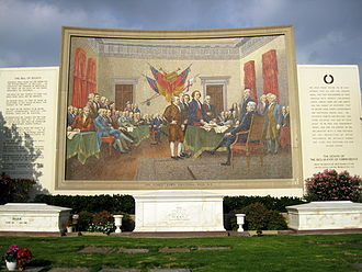 Forest Lawn Memorial Park (Glendale) - Mosaic of Trumbull's ''Declaration of Independence''