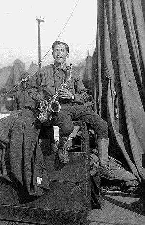 Frederick Jacobi - Frederick Jacobi as musician in the Alcatraz Army Band.