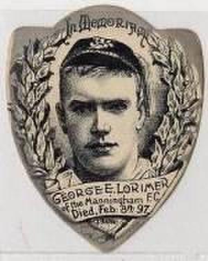 George Lorimer (rugby league) - Baines memorial card featuring George E. Lorimer