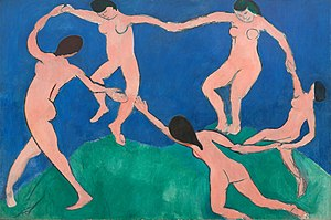 Henri Matisse, 1909, La danse (I), Museo de Arte Moderno.jpg