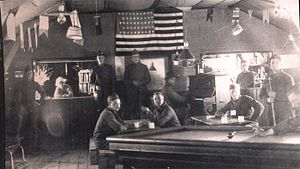 Anita Parkhurst Willcox - Willcox in canteen at Amanty, France, with First American army, 1918