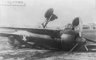 Polikarpov I-180 - The second Polikarpov I-180S (production series) crashed at Khodynka Aerodrome on May 26, 1940
