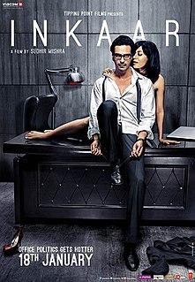 <i>Inkaar</i> (2013 film) 2013 Indian film directed by Sudhir Mishra