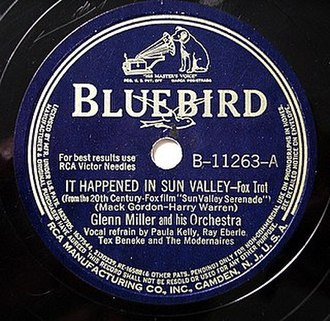 It Happened in Sun Valley - 1941 RCA Bluebird 78, B-11263-A.