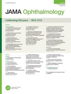 <i>JAMA Ophthalmology</i> medical journal about eye disease and treatment