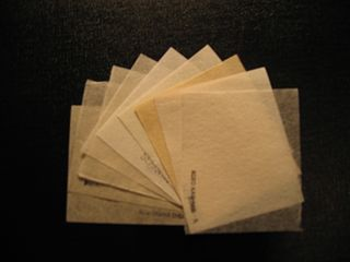 Japanese tissue Thin, strong paper made from vegetable fibers