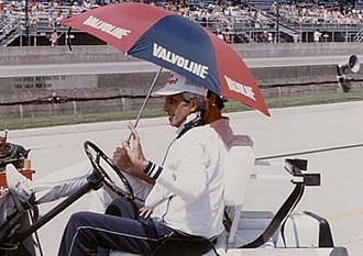 1986 Indianapolis 500 - Jim Trueman during practice.