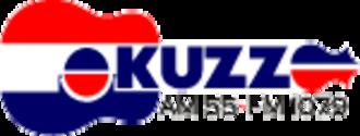 Buck Owens - KUZZ Radio logo featuring a depiction of Owens' trademark guitar