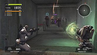 Lost Planet: Extreme Condition - Players engaging in an online battle.