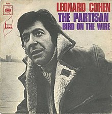 Leonard Cohen - The Partisan (B-side - Bird on the Wire) - 1969 CBS (4262) 7-inch single cover art.jpg
