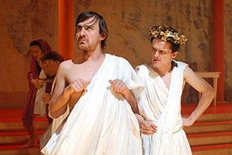 Dead Caesar - Ewen Leslie and Andrew Hansen in a scene from Dead Caesar.
