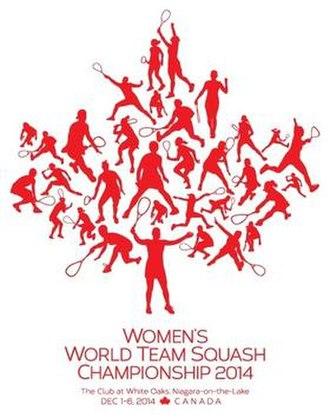 2014 Women's World Team Squash Championships - Image: Logo Women's World Squash Team 2014