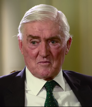 Cecil Parkinson - Parkinson gives an interview at 10 Downing Street a week after his retirement from the House of Lords.