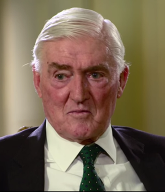 Cecil Parkinson - Parkinson during an interview at 10 Downing Street, a week after his retirement from the House of Lords