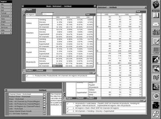 Lotus Improv spreadsheet program