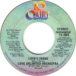 Love's Theme - Image: Love Unlimited Orchestra's Theme US vinyl 7 inch 1973