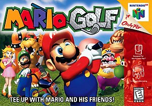 Mario Golf (video game) - North American Nintendo 64 cover art