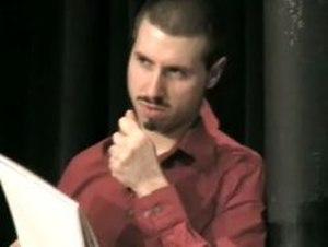Matt the Knife - Matt the Knife on stage reading an audience member's mind.