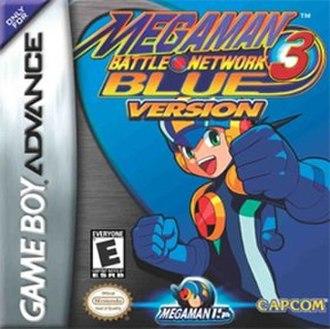 Mega Man Battle Network 3 - Image: Mega Man Battle Network 3 Blue Version Coverart