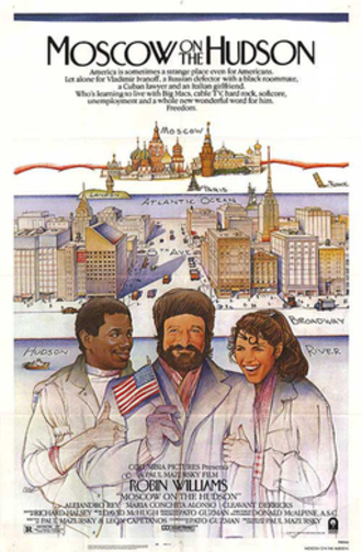 Moscow on the Hudson - Theatrical release poster