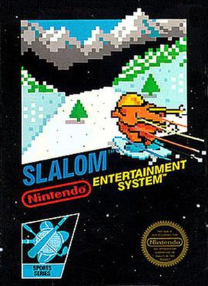 Slalom (video game) - Image: NES Slalom