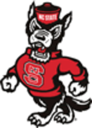 """History of North Carolina State University - The strutting wolf (""""Tuffy"""") logo, designed by a student in the early 1970s and modernized in 2006, is widely recognized as a symbol of NC State."""