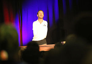 Nick Vujicic - Vujicic speaking to students in Florida in 2015